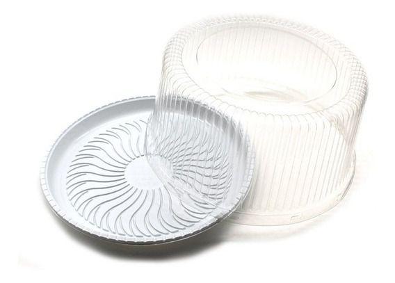 Bandeja de Plástico para Torta / Bolo G35 C/ 100UN - Galvanotek