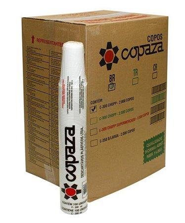 Copo 300ML  Caixa C/ 20 Pacotes 100UN ABNT - Copaza