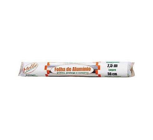 Papel Alumínio Rolo 30X7.5M - Mello