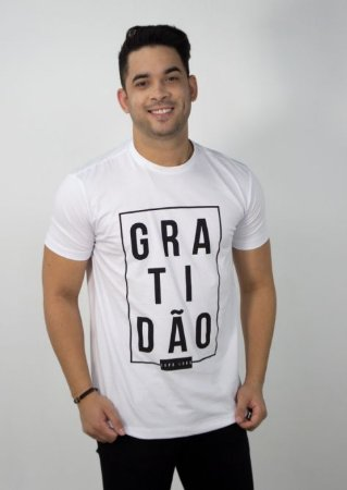 CAMISETA BRANCA GRATIDÃO