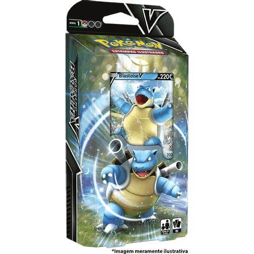 Decks Pokémon Espada e Escudo Baralho Batalha V Blastoise Copag cards