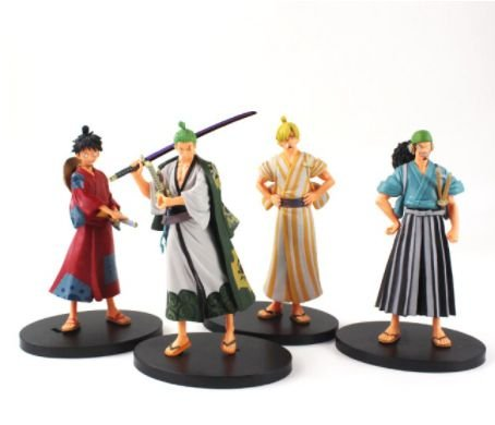 Figures One Piece Luffy Sanji Zoro Usopp (Wano)