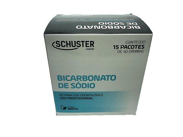 Bicarbonato de Sodio 15 Saches de 40 Gramas Menta Schuster