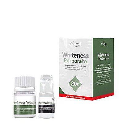 Clareador 20% Whiteness Perborato Sódio 8ml Perb+Hidr FGM