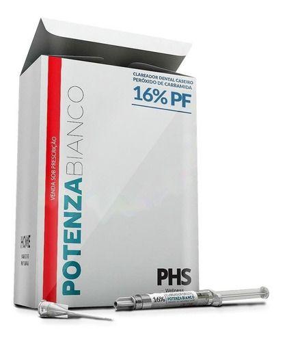 Clareador 16% Carbamida C/7ser + Moldeira Clareamento Potenza PHS