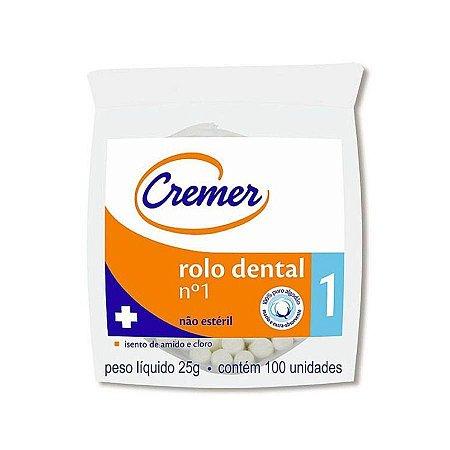 Algodão Rolete Dental 01 - Cremer