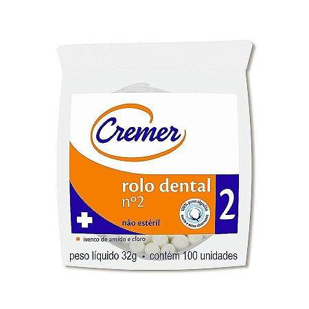 Algodão Rolete Dental 02 - Cremer