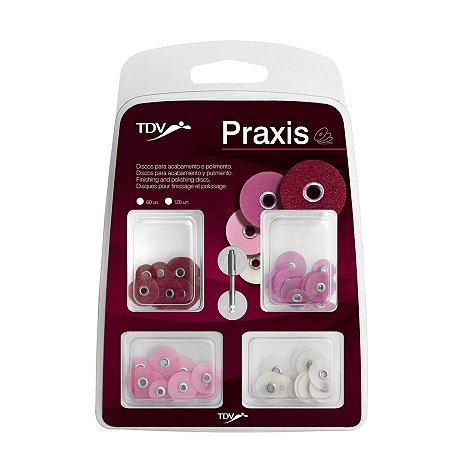 Kit Disco de Lixa Sortido + Mandril Praxis TDV