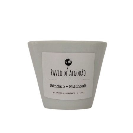 Vela Natural Hidratante   Sândalo + Patchouli 110g