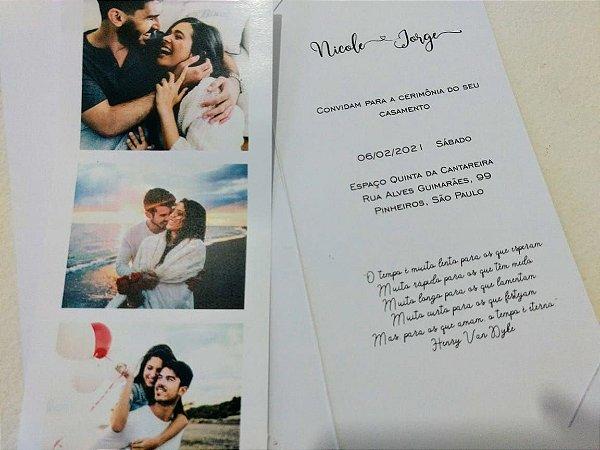 Convite de Casamento Nossas Fotos