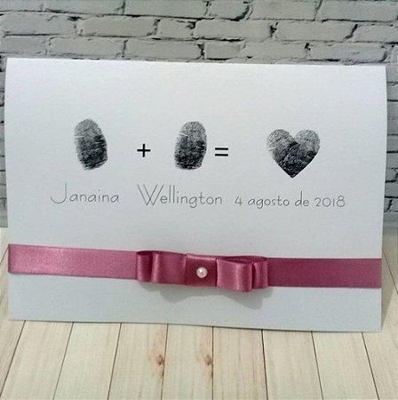 Convite de Casamento Digital dos Noivos Janaína e Wellington