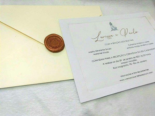 Convite de Casamento Clássico Larissa e Paulo