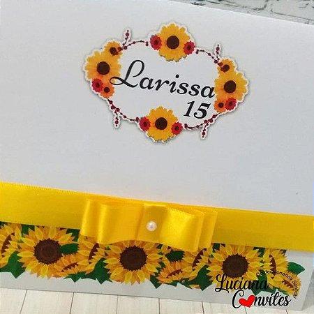 Convite de 15 anos Girassol