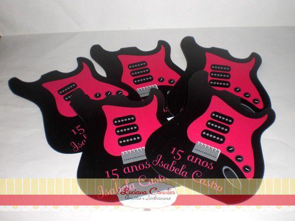 Convite 15 Anos Guitarra