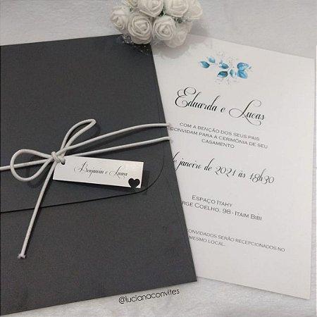 Convite de Casamento Flores Eduarda e Lucas