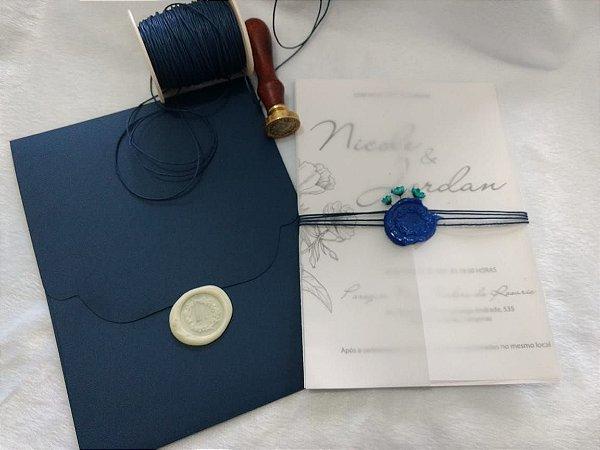 Convite de Casamento Nicole e Jordan