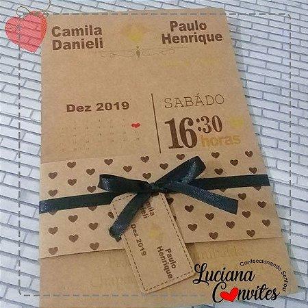 Convite Rústico Camila e Paulo