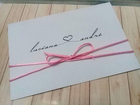 Convite de Casamento Luciana e André