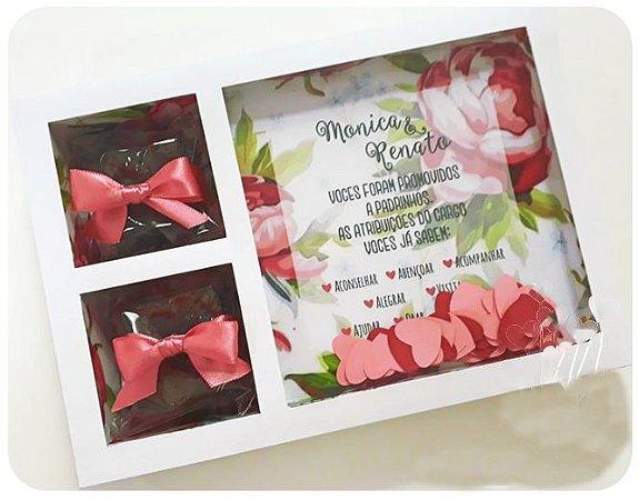 Convite Padrinhos de Casamento Marsala com Manual