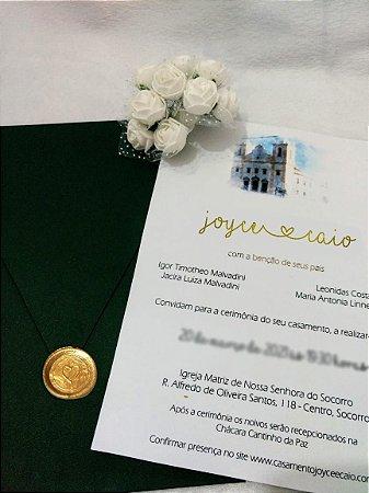 Convite De Casamento Aquarela Joyce E Caio