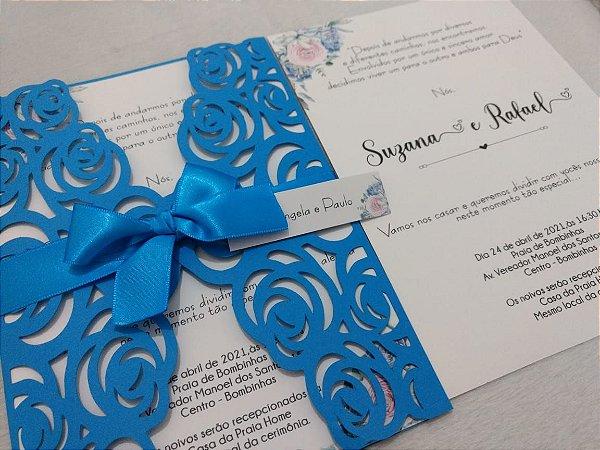 Convite De Casamento Rendado Rosas