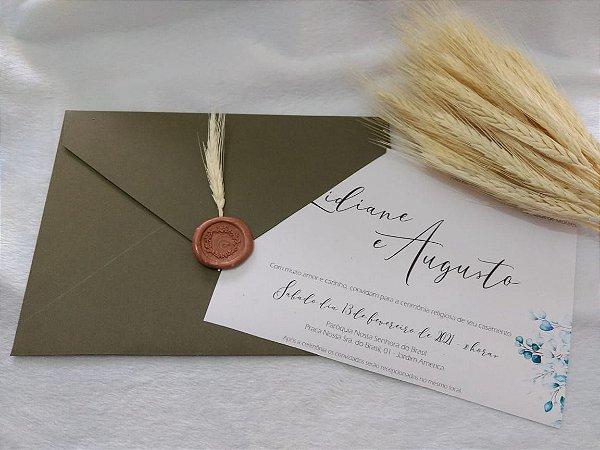 Convite de Casamento Lidiane e Augusto