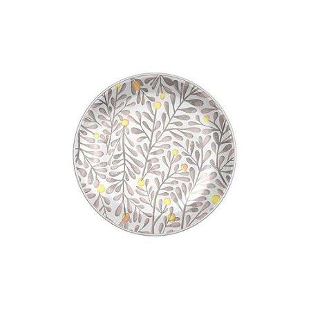 Prato Sobremesa 20cm Garden Branco - Corona