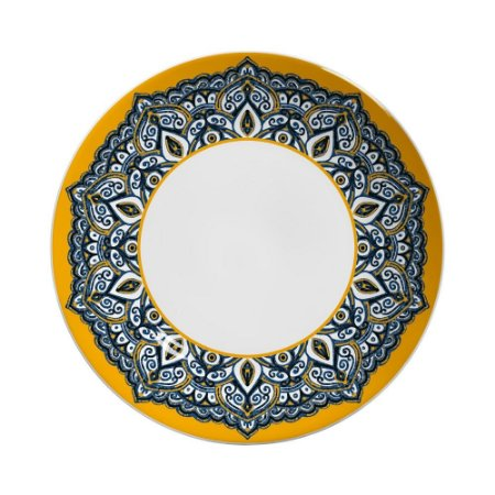 Prato Raso 27cm Bombaim - Cerâmica Scalla