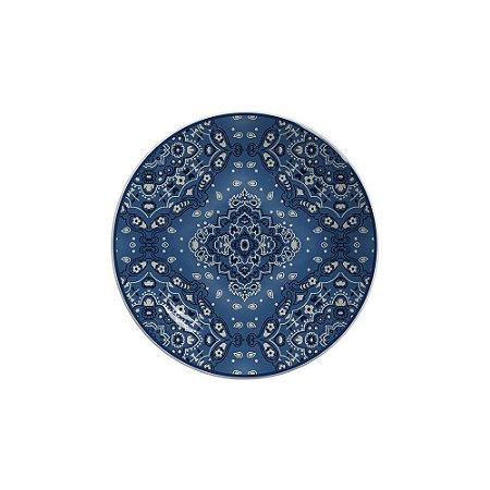 Prato Sobremesa 20cm Bandana - Cerâmica Scalla