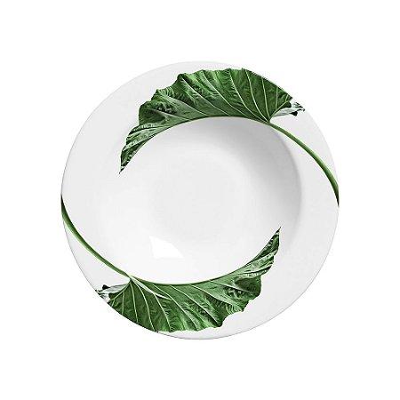 Prato Fundo 22cm Leaves - Cerâmica Scalla