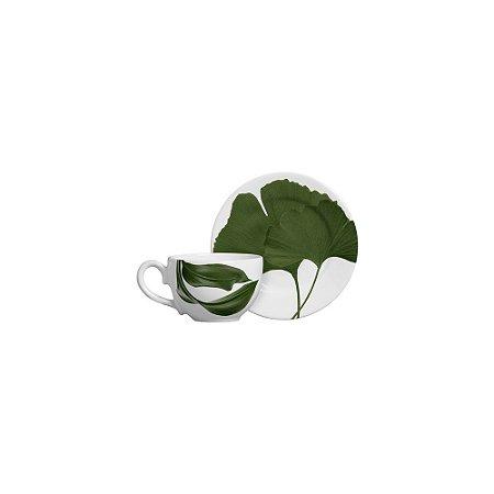 Xícara De Chá Leaves - Cerâmica Scalla