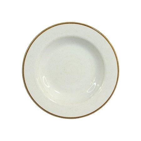 Prato Fundo 23,5cm Artisan Branco 340ml - Corona
