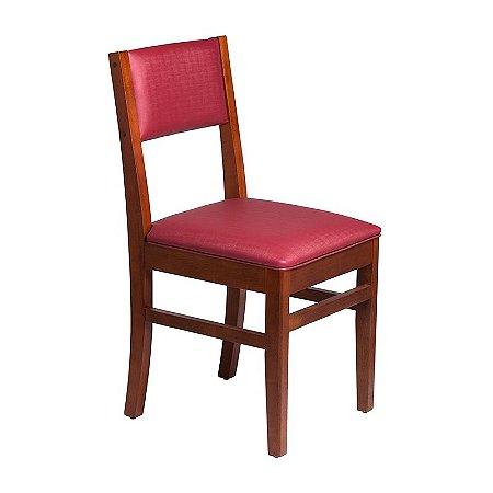 Cadeira Ametista Estrutura em Madeira Maciça - Bordô