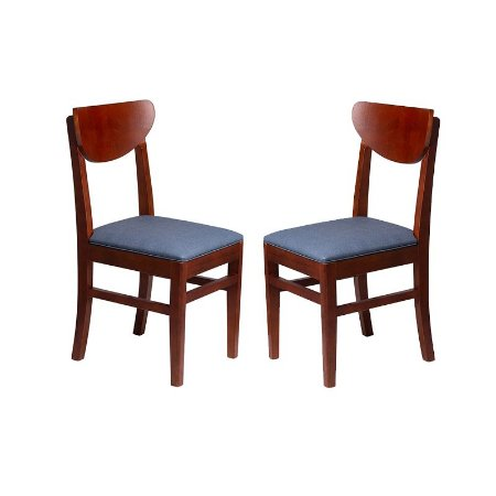 Conjunto - 2 Cadeiras Turquesa Estrutura em Madeira Maciça