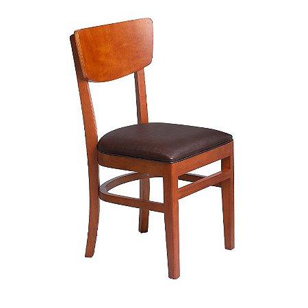 Cadeira Cuiabá Estrutura em Madeira Maciça - Preto
