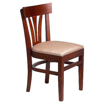 Cadeira Ipanema Estrutura em Madeira Maciça - Capuccino