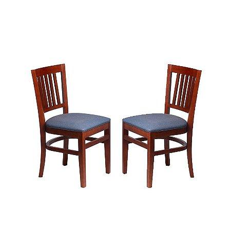Conjunto - 2 Cadeiras Fortaleza Estrutura em Madeira Maciça