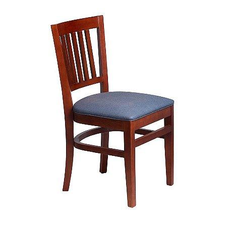Cadeira Fortaleza Estrutura em Madeira Maciça - Azul
