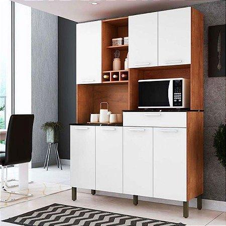 Armário de Cozinha 7 Portas 1 Gaveta Verdot Castanho/Branco - Ronipa