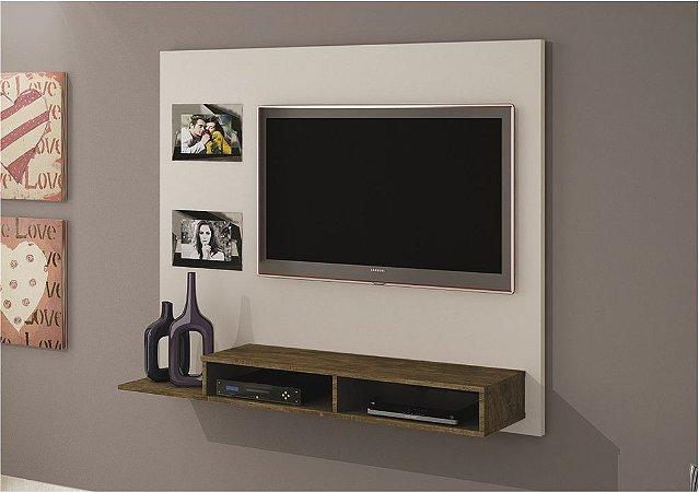Painel TV até 46 Polegadas Hades Off White/Ipê - Valdemóveis