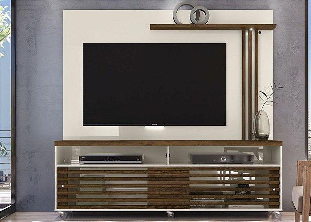 Painel Home TV até 65 Polegadas Frizz Off White/Savana - Madetec