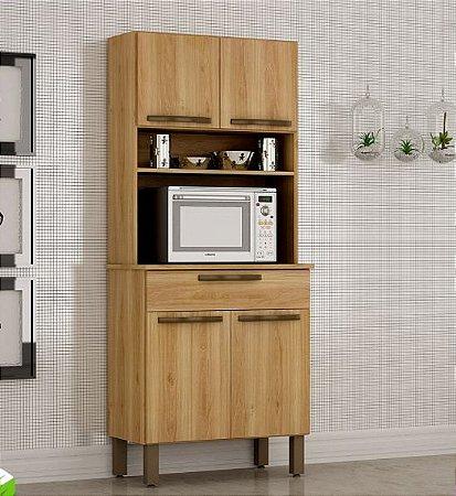 Armário de Cozinha 4 Portas 1 Gaveta Turim Carvalho - Sallêto