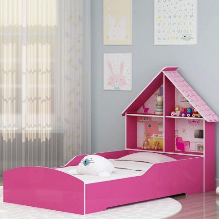 Cama Infantil Casinha 090 Rosa Pink Pok - Gelius