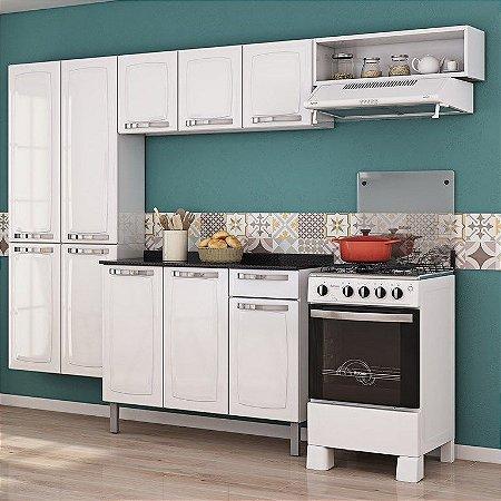 Cozinha Aço 10 Porta Com Balcão Rose Branco - Itatiaia