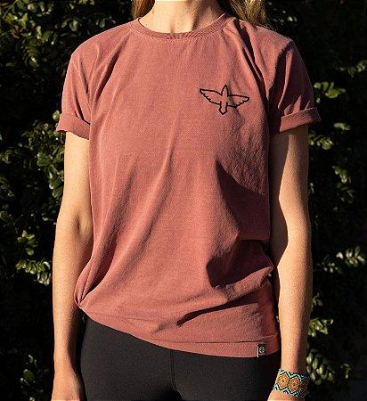 Camiseta Horizonte - Bordô