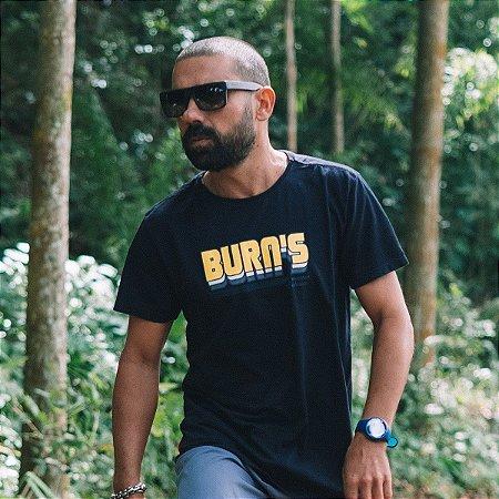 Camiseta Burn's Retro Preta