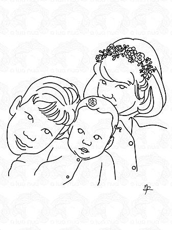 Ilustração Personalizada - Arte Digital - Traçado - A4