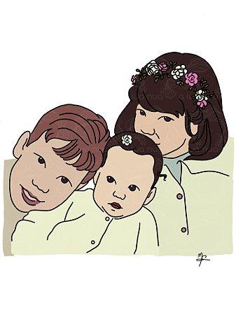 Ilustração Personalizada - Arte Digital - Colorido - A4
