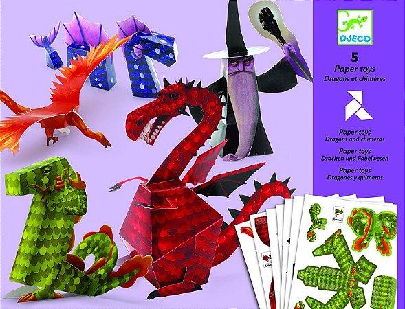 Criar com papel - Dragões