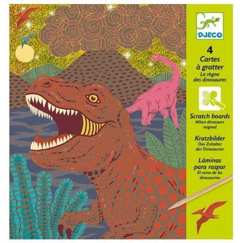 Ilustrações raspadinha: Dinossauros